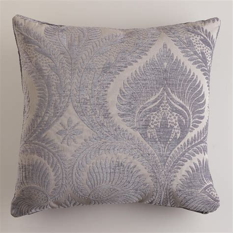 world market pillows gray nouveau chenille throw pillow world market