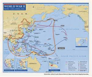 World War II Pacific Theater Map