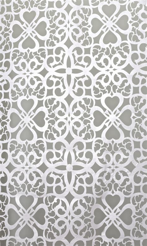 Patterned Panel Cutout Swimdress white patterned felt cutout for backdrop panel 14ft