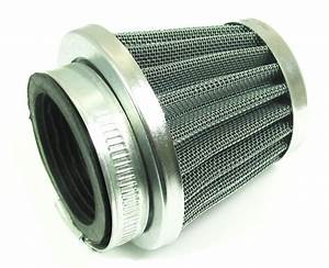 Large Cone Shape Chrome High Performance Air Filter  44mm Id