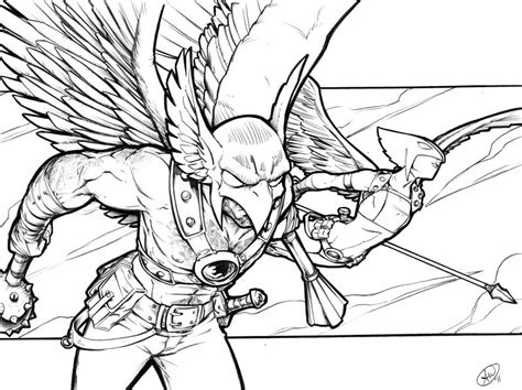 Hawkman And Hawkgirl By Adamwithers On Deviantart