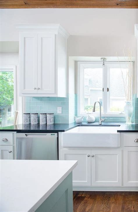 blue tile backsplash kitchen blue design ideas