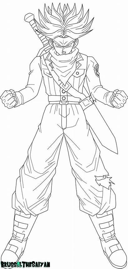 Trunks Dragon Ball Future Rage Saiyan Coloring