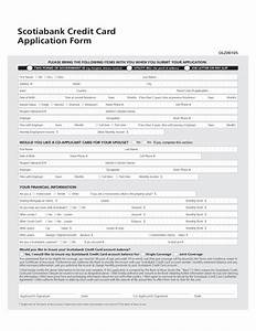 Scotiabank credit card application form canada free download for Documents for apply credit card