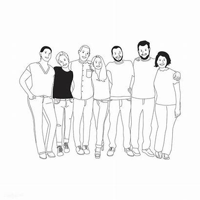 Arms Around Each Diverse Illustration Vector Rawpixel