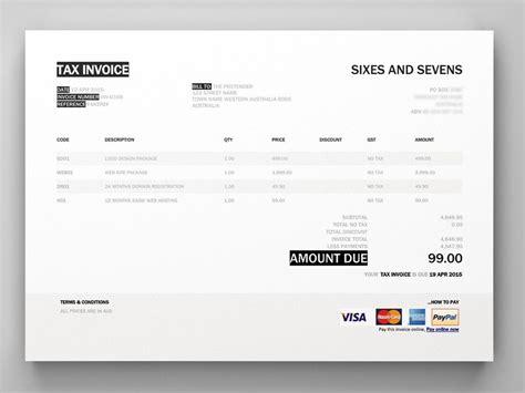 xero invoice template invoice