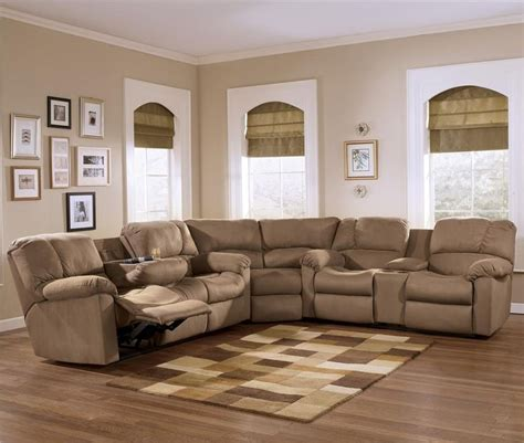 eli cocoa reclining sectional sofa with pillow