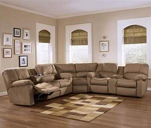 Eli cocoa reclining sectional sofa group with pillow for Stratford home pillows living room furniture
