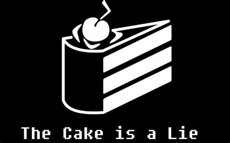the cake is a lie leave birthday while she s still talking