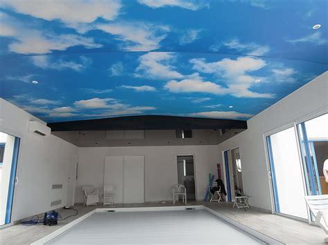 peinture plafond chambre toile tendue translucide et imprimée peinture frehel