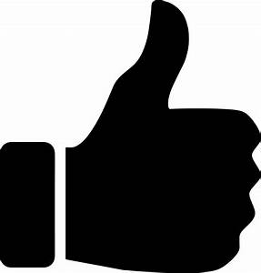Clipart - Thumbs Up Silhouette