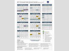 201718 School Calendar Norwalk Public Schools