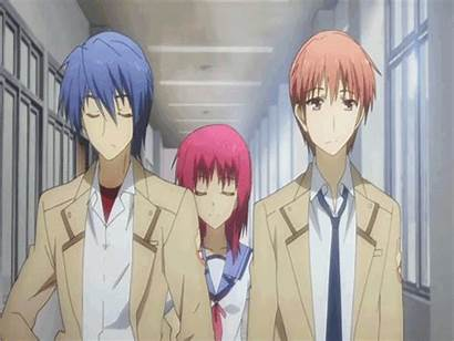 Iwasawa Anime Monster Angel Beats Gifs Chasing