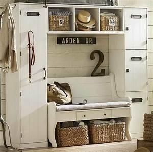 Garderobe Vintage Weiß : praktische dielenm bel wei e sitzbank vintage m bel m bel vintage pinterest ~ Sanjose-hotels-ca.com Haus und Dekorationen