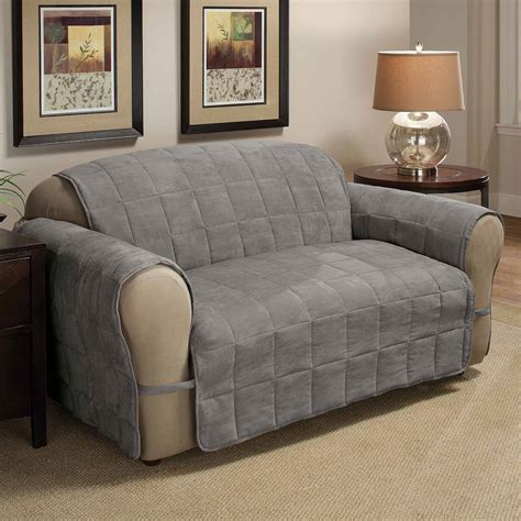 Sofa Covers by Mainstays Reversible Microfiber Fabric Pet Furniture Sofa