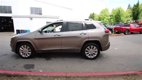 light brown jeep 2016 jeep cherokee overland light brownstone pearlcoat