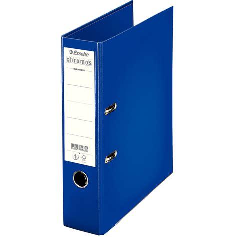 classeur de bureau esselte classeur à levier chromos plus 80mm bleu