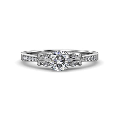 Diamond Butterfly Engagement Ring & Wedding Band Set 135