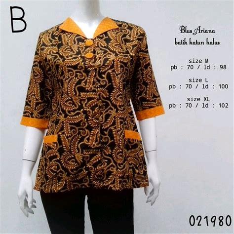 Blus Batik Atasan Wanita jual blouse batik terbaru blus batik murah atasan batik