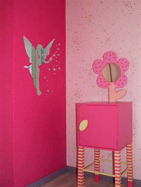 sticker chambre ado stickers effet miroir fée clochette chambre enfant