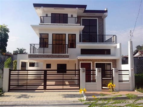 storey design   philippines  plans modern house