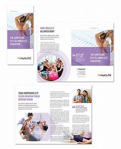 yoga instructor studio tri fold brochure template http With breastfeeding brochure templates