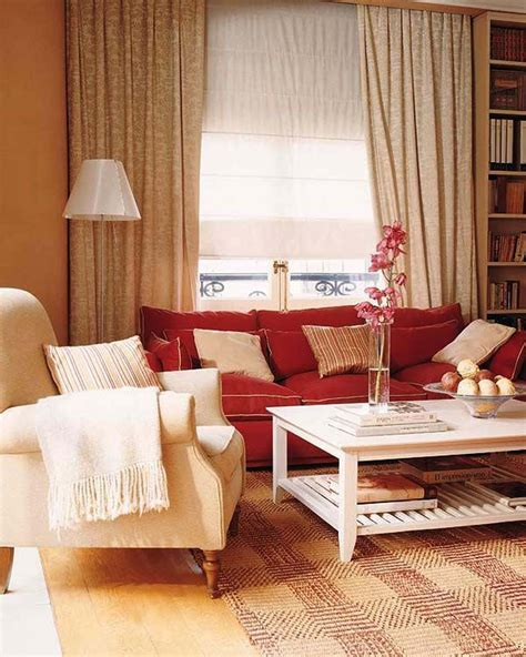 small living room decorating ideas red couch living