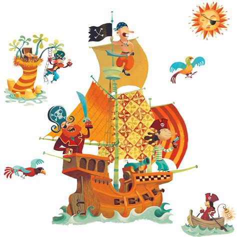deco chambre garcon pirate photos dessin couleur bateau pirate page 3 crèche