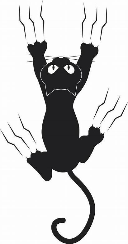 Cat Gato Claw Marks Clipart Clip Silhouette