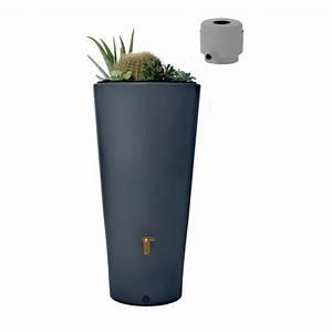 Récupérateur d'eau Réservoir Vaso 2en1 220 L Graphite Garantia Palette Gamm Vert