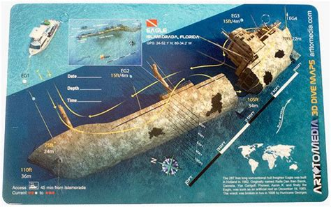 47 Best Images About Shipwreck And Reef Dive Maps On Pinterest