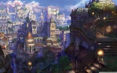 Fantasy Town Wallpapers Anime 4k Landscape Steampunk