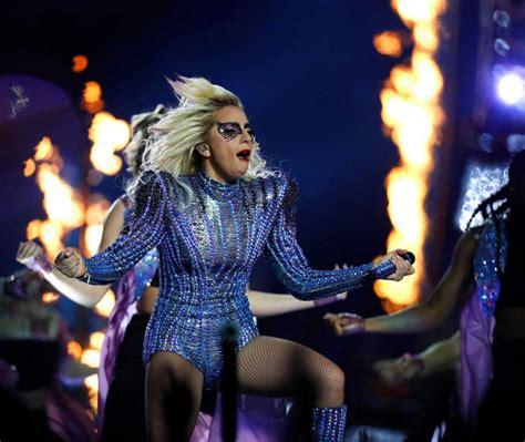 Photos Lady Gaga Lights Up Stage At Super Bowl Li
