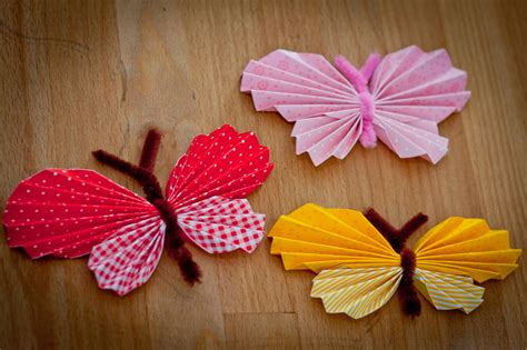 schmetterling falten kindergarten anleitung papierschmetterlinge unser kreativblog