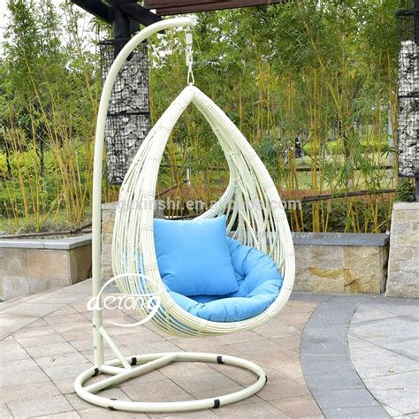chaise balancelle pe rattan garden hanging egg chair cheap price patio leaf