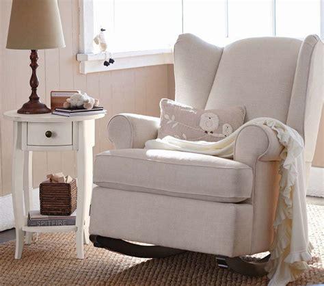 wingback rocker and ottoman nursery rocking chair nursery chair pottery barn