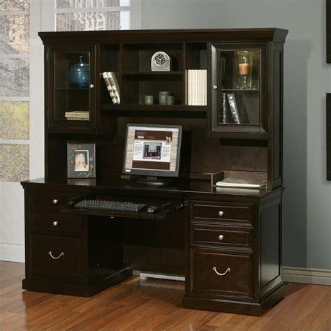 espresso computer desk with hutch martin furniture fulton credenza with hutch in espresso