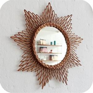 Petit Miroir Rotin : d329 mobilier vintage miroir rotin osier vintage b atelier du petit parc ~ Melissatoandfro.com Idées de Décoration