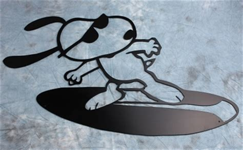 surfing snoopy metal wall art  hgmw