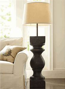 pottery barn architectural salvage floor lamp sold out ebay With chunky wooden floor lamp