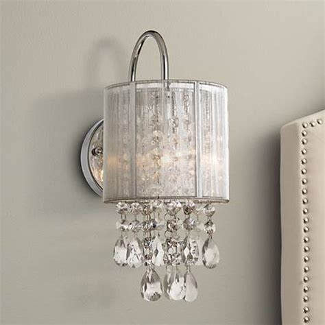 possini euro silver line 12 quot h chrome and crystal sconce y7690 ls plus