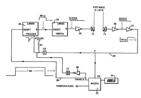 ultrasonic air flow speed sensor