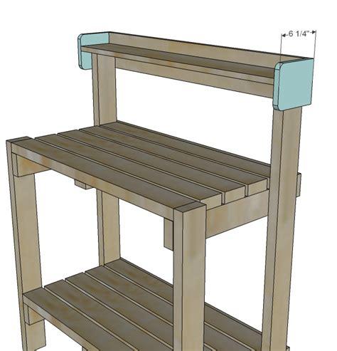 diy garden potting bench plans free plans free