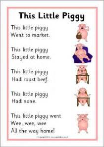 Little Piggy Nursery Rhyme by This Little Piggy Rhyme Sheet Sb11044 Sparklebox