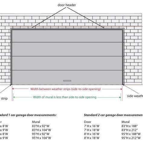 garage door height two car garage door size pertaining to garage doors