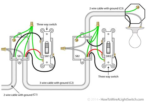 1 3 Way Light Switch Wiring Diagram by 3 Way Switch How To Wire A Light Switch