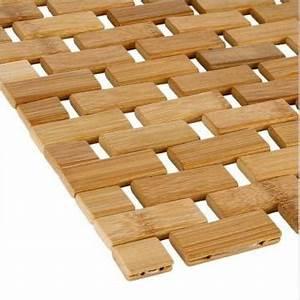 tapis salle de bain en bambou naturel 2290 With tapis de bain en bois