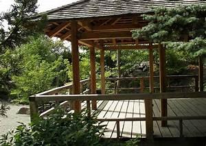 überdachte Terrasse Holz : terrasse japanischer garten terrassengestaltung ideen ~ Whattoseeinmadrid.com Haus und Dekorationen