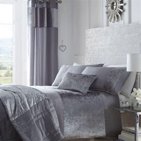 grey duvet cover king boulevard silver grey crushed velvet quilt duvet