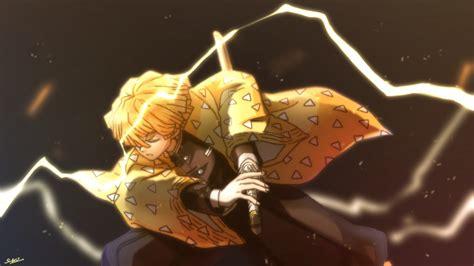 demon slayer zenitsu agatsuma  sword  blur